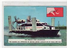 VICKERS VA-3 HOVERCOACH HOVERCRAFT: British United Airways postcard (C17664)