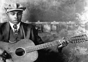 """Reproduction """"Blind Willie McTell"""" Poster, Blues, Wall Art, Vintage Print"""