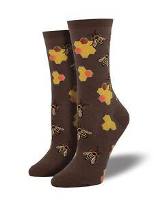"Socksmith Women's Socks Novelty Crew Cut Socks ""Busy Bees"" / Choose Your Color!!"