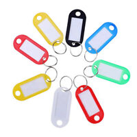 Plastic Key Tags Ring Luggage Fobs ID Card Name Label Tag Keychain Split Ring