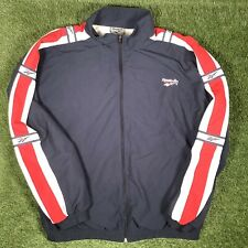 XL Retro REEBOK Tracksuit Top - VTG 1990s Navy Shell Jacket - British Colours