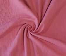 (EUR 14,90/m) Musseline Double Gauze Uni Rosa Coralle 0,50mx1,35m (Art 1669)