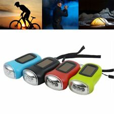 Lighting 3LED Camping Solar Powered Hand Flashlights Cranking Torches Portable