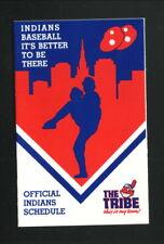Cleveland Indians--1988 Pocket Schedule--Big Boy Restaurants