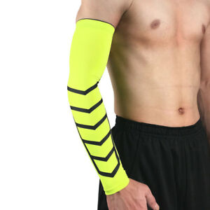 Men Sports Stretchy Arm Sleeve Elbow Pads Basketball Cycling Protective Gear