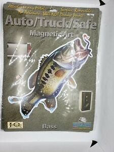 Rivers Edge Truck/Auto/Safe Magnetic Art Decal BASS