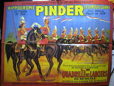 FASCICULE 15  CIRQUE PINDER+ AFFICHE LES LANCIERS DU BENGALE 1952 + INSERT
