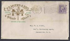 1919 F.E. MYERS, MAKERS OF WATER PUMPS ORNATE RAISED GOLD W/GREEN, ASHLAND OH