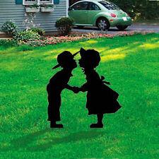 **NEW** Lawn Art Yard Shadow/Silhouette - Amish Kissin Kids
