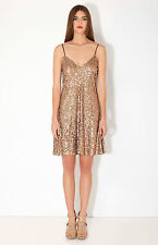 Hale Bob Sleeveless Sequin Fit And Flare Cocktail Dress XS S NWT 1STU6846 *