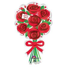 Red Rose Bouquet Shape Valentines Love Helium Balloon Valentine Party Decoration