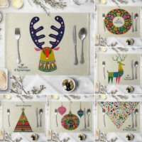 HO_ HB- Christmas Heat Insulation Placemat Anti-Slip Tableware Bowl Plate Table