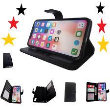 Für Apple iPhone X Handytasche Tasche Hülle Klapphülle Schutzhülle schwarz Case
