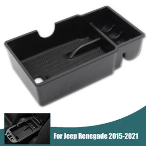 For Jeep Renegade Armrest Storage Box Center Console Organizer Tray 2015-2021