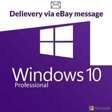 Windows 10 Pro Professional Activation Key 32/64bit Genuine Lifetime Activation