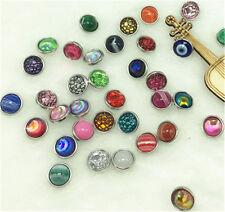wholesale 10Pc Randomly mix Charm Chunk Snap Button fit Noosa Leather Bracele 12