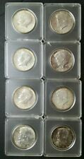 Lot of 8 1964 50c Kennedy Silver Half Dollars in Capsules