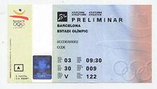 Orig.ticket Juegos Olímpicos Barcelona 1992-Atletismo 03.08. / 6 final `s! Raro