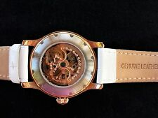 WOMAN WATCH.Luxury.Mother-of-Pear.Rose Gold. Swarovski Crystals.Maurice Blum.New