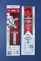 GUY CARBONNEAU   MONTREAL  CANADIENS  photo  ticket  1993  STANLEY CUP  (2 DIFF)