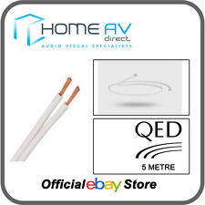 QED 79 Strand Speaker Cable OFC High Grade Copper Award Winning - 5m - White