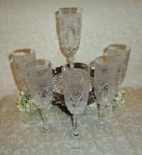 "CRISTAL D' ARQUES ""DURAND"" PATTERN, ""Set of 6 Champagne Stems"""
