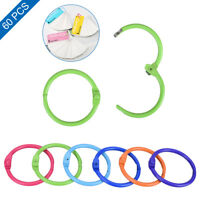 60PCS Colored Easy Ring Paper Book Loose Leaf Binder Keychain Multifunction Tool