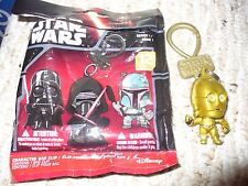 """Loose Star Wars Series 1 Character Bag Clip Opened Blind Bag - C-3PO - 2"""" tall"""