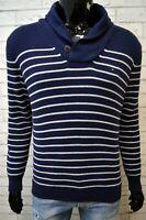 Maglione Blu Uomo TOMMY HILFIGER Taglia M Pullover in Cotone Cardigan Sweater