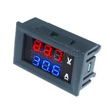 Voltmeter Ammeter Blue&Red DC100V 10A LED Digital Volt Amp Meter Tester Detector