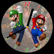 Mario Brothers CD Clock, free stand can be personalised