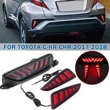 Red LED Brake Light Tail Rear Bumper Fog Stop Warn Lamp For Toyota CHR 2017 2018