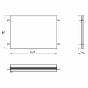Emco Unterputz Einbaurahmen 949700014 für Lichtspiegelschrank Prime