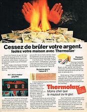 PUBLICITE ADVERTISING 065  1980  THERMOLAN  BAYER  laine de verre isolation