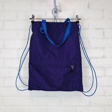 Nike Purple Drawstring Backpack Tote Nylon Gym Bag Travel Bag Zipper Pocket