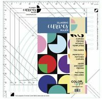 Color Girl Classic Curves Quilting Ruler. For cutting ten curve sizes 4″-8 1/2″