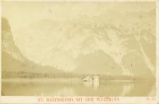 Allemagne, Bavière, Bayern, Königsee, St Bartholomä mit der Watzmann Vintage Pri