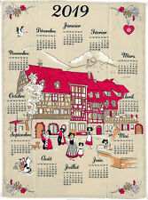 Torchon calendrier 2019 - Village