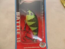 "Bay Rat Lures Battle Rattln Crank Bait Firetiger  2 1/2"" New In Package B14"