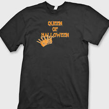 Queen Of Halloween Funny Scary T-shirt Easy Costume Party Tee Shirt