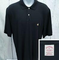 BROOKS BROTHERS XXL Short Sleeve Polo Style Original Fit Shirt Black Mesh