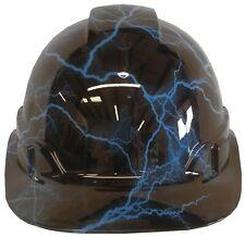 Hydro Dipped Hard Hat Ridgeline Cap Style Custom Light Blue Lightning