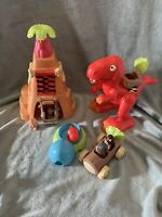 Elc Happyland - Dinosaur Caveman Playset, Dinosaur, Rock Tower, 4 Figures & Acc.