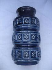 vase bleu roy céramique W. Germany années 70