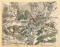 "1863 MAP, Civil War, antique, Battle of Chancellorsville Virginia, 20""x16"" print"