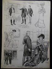 Original Frank Gillett Original 1902 Illustration - Wyndham Theatre Play - RARE