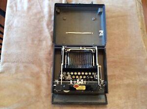 ANTIQUE CORONA No.3 FOLDING TYPEWRITER WWI MILITARY W BOX CAPT REED FREE SHIP-NR