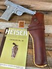 Vintage HH Heiser VL&A Brown Leather Holster Rawhide Laced For .22 Auto 41 S&W