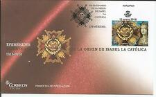Spain 2016  Efemérides. Bicentenario de la Orden de Isabel la Católica FDC - fir