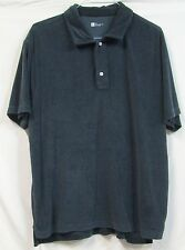 GAP Athletic Fit Crushed Dark Blue Short Sleeve Polo Shirt XXL